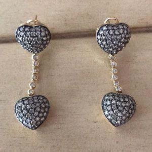 Jewelry - Diamond and 14k Gold Dangle Earrings
